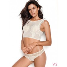 Открытый бюстгальтер VICTORIA'S SECRET FLORAL LACE & STRIPED BRA TOP