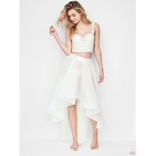 Сорочка беби-долл VICTORIA'S SECRET HIGH-LOW RUFFLE SKIRT белая