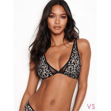 Бюстгальтер без косточек ВИКТОРИЯ СИКРЕТ SEXY ILLUSIONS BY VICTORIA'S SECRET UNLINED PLUNGE BRA черный